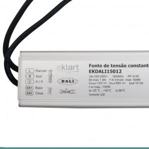 Fonte de alimentação 12V 12,5A 150W Bivolt - Protocolo DALI IP67
